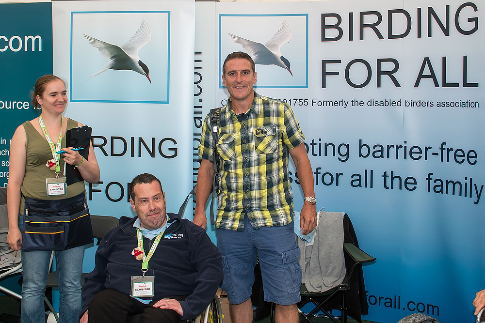 2014 British Birdfair - Iolo Williams meets the Birding For All team.