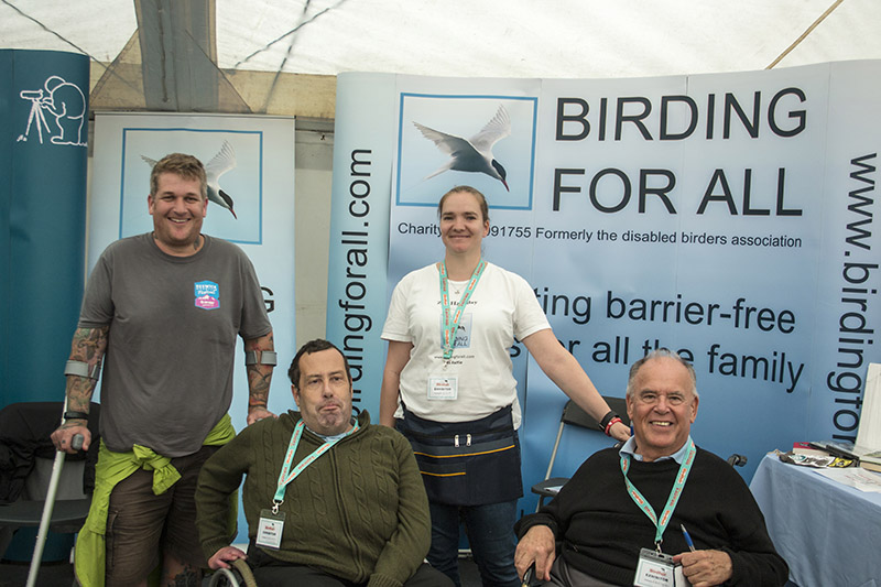 Tristan Reid one of our newest patrons, meets the team 2016 British Birdfair